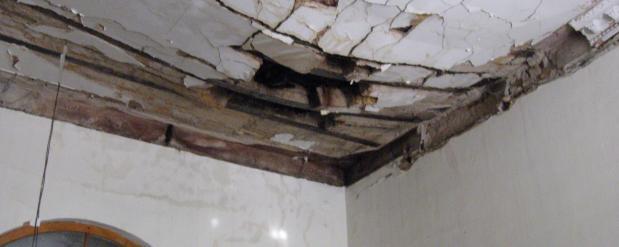 В жилом доме рухнул потолок